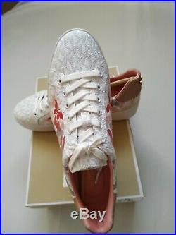 Michael Kors Poppy Lace Up Mini MK Logo PVC Trainers EU 37, UK 4