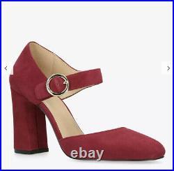 Michael Kors Red ALANA Suede Mary Jane Pump Heels Shoes BNIB £135 UK 4