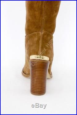 Michael Kors Regina Over The Knee Brown Suede Block Heel Boots 7