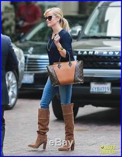 Michael Kors Regina Over The Knee Brown Suede Block Heel Boots 8