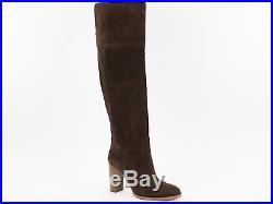 Michael Kors Regina Tall Boots Dark Caramel Suede Women's US Size 6.5 & 7 M $295