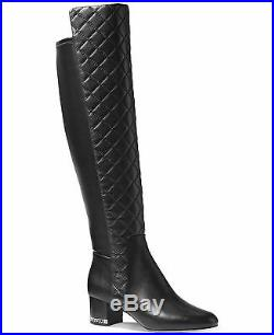 Michael Kors Sabrina Iconic Mk Logo Chain Heel Tall Quilted Boots I Love Shoes
