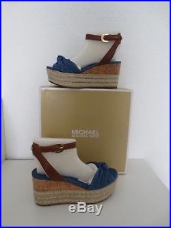 Michael Kors Sandalen DENIM Gr. 38 US 7 WEDGE Sandaletten MAXWELL Schuhe neu