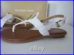 Michael Kors Sandalen Gr. 39 AUBREY CHARM THONG Sandaletten White Weiß Schuhe neu