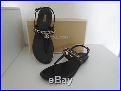 Michael Kors Sandalen Gr. 39 ELSA THONG Sandaletten Black Schwarz Schuhe