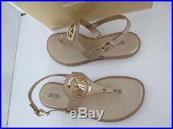 Michael Kors Sandalen Gr. 39 PALE GOLD AUBREY CHARM THONG Sandaletten Schuhe