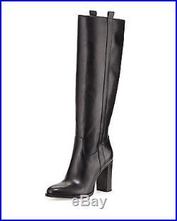 Michael Kors Shaw Knee High Black Leather Boots BNIB UK 3 EU 36 £299
