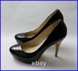 Michael Kors Shoes Heels Black Pumps Patent Leather Cork Platform Size 10 M