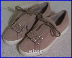 Michael Kors Shoes Keaton Kiltie Sneaker Suede Cement Color Several Sizes NIB