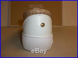 Michael Kors Size 1 Ivy Alita Camel Slip On Sneakers New Little Girls Shoes