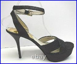 Michael Kors Size 10 Black Glitter Sandals New Womens Shoes