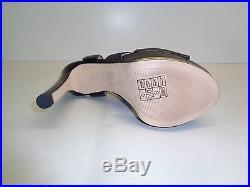 Michael Kors Size 10 M MEADOW PLATFORM Black Leather Sandals New Womens Shoes
