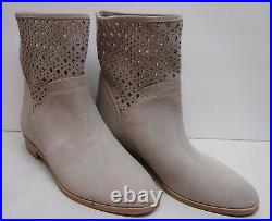Michael Kors Size 7 Beige Taupe Leather Ankle Boots New Womens Shoes
