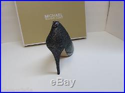 Michael Kors Size 9 M Silver Glitter Heels New Womens Shoes