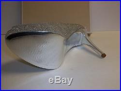 Michael Kors Size 9 M York Silver Glitter Platform Heels New Womens Shoes