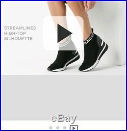 Michael Kors Skyler Bootie Black Mk Logo Size 8 New