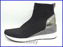 Michael Kors Skyler Women Shoes Sneaker Black/Gunmetal Sz 10 M