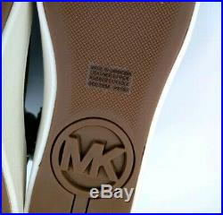 Michael Kors Slip On Real Fur Lamb Brown Leather Ankle Boots Sneakers Size 8 New