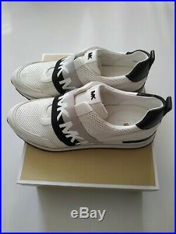 Michael Kors Slip On Teddi Trainers, Optic White/Black, size EU 41 UK 8