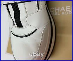 Michael Kors Sneakers Cortlandt Trainer Leather 8.5M Optic White Logo KORS