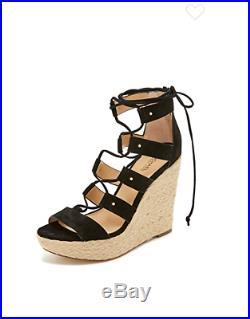 Michael Kors Sofia Wedge Platform Sandal Shoe in Black Size 10 NEW in Box