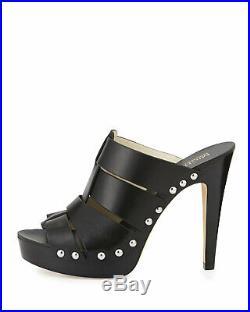 Michael Kors Somerly Black Platform Mules Sandals Size 8