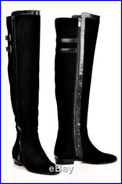 Michael Kors Stiefel Delaney Overknee BOOT SUEDE Black Gr. 39,5 NEU