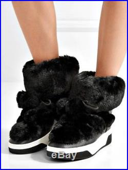 Michael Kors Stiefeletten Nala Ankle Boot Fur Faux Gr. 37 NEU