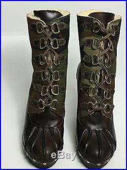 Michael Kors Studded Leather Sheepskin Ankle Boot Size 9 Usa