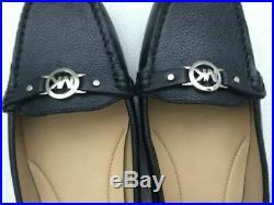 Michael Kors Sz 8 Women's May Leather Moc Flat Pumps Black Authentic Shoes