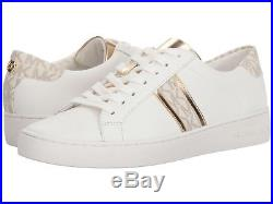 Michael Kors Sz 9.5 Irving Strip Women's Trainer Sneakers Leather Lace-up New