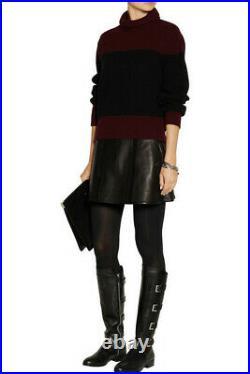 Michael Kors Tamara Black Snake Logo Silver Buckles Tall Boots 7.5 I Love Shoes