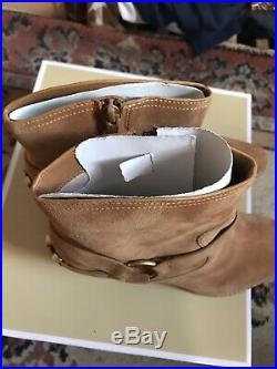 Michael Kors Tan Cowboy Style Ankle Boots New In The Box