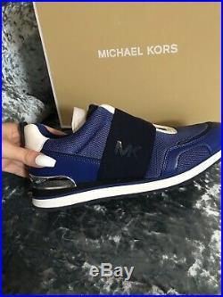 Michael Kors Teddie Trainers Sapphire Brand New