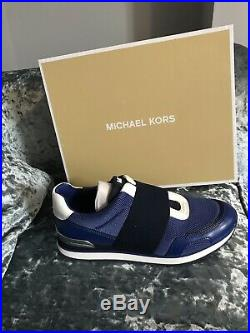 Michael Kors Teddie Trainers Sapphire Brand New 6.5
