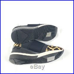 Michael Kors Trainer Sneaker Leopard Black Glitter Slip On Womens Size 6