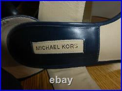 Michael Kors Tulia indigo leather wrap around chunky sandal shoes EU 36 UK 3 VGC