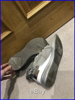 Michael Kors Wedge Sneakers Trainers Grey Real Fur 8.5 39 Uk 6.5