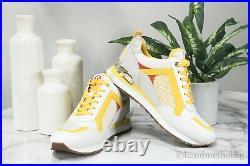 Michael Kors Wilma Citrus US Size 7.5 Tech Canvas Mesh Trainer Sneaker Shoes