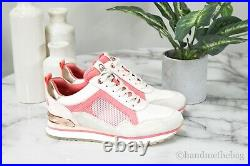 Michael Kors Wilma Mixed Media Trainer Tech Canvas Mesh Sneakers Shoes