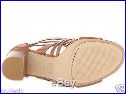Michael Kors Winston Sandal Luggage Open Toe Buckle Zipper Women Shoes Multisize