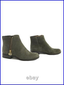Michael Kors Women Lainey Flat Suede Bootie Shoes, Color Ivy, Size 8.5, NWT