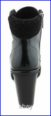 Michael Kors Women's Black Kim Leather Lace Up Bootie Shoes Ret $195 New