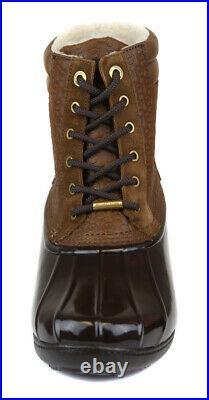 Michael Kors Women's Caramel Easton Lace Up Duck Boot Bootie Shoes Ret $99 New