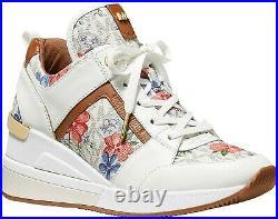 Michael Kors Women's Georgie Trainer Sneaker Shoes Vanilla