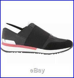 Michael Kors Women's MK Trainer Canvas Classic Sneakers Shoes Black NIB 8.5