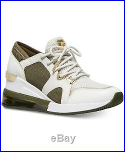 Michael Kors Women's Premium Liv Trainer Extreme Mesh Sneakers Shoes Cream Multi