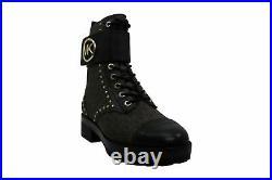 Michael Kors Women's Shoes Tatum Leather Almond Toe Ankle, Black/Brown, Size 8.0