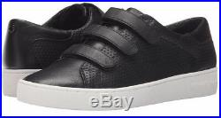 Michael Kors Women's Sneakers Black Craig Perf Shoes Leather Fashion Sz 8 NIB