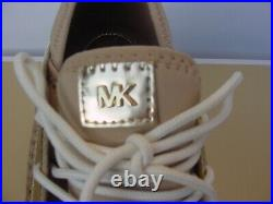 Michael Kors Women's Sneakers Sand Brown Gold Scout Trainer Scuba 10 NIB